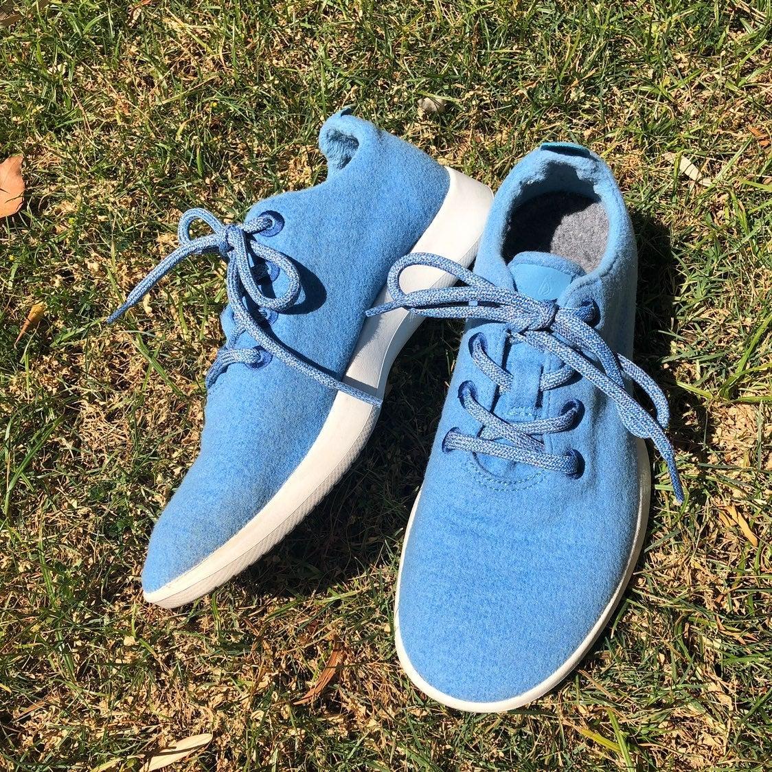 Allbirds the wool runner blue running sh