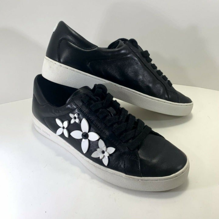 Michael Kors Leather Lola Floral Lace Up