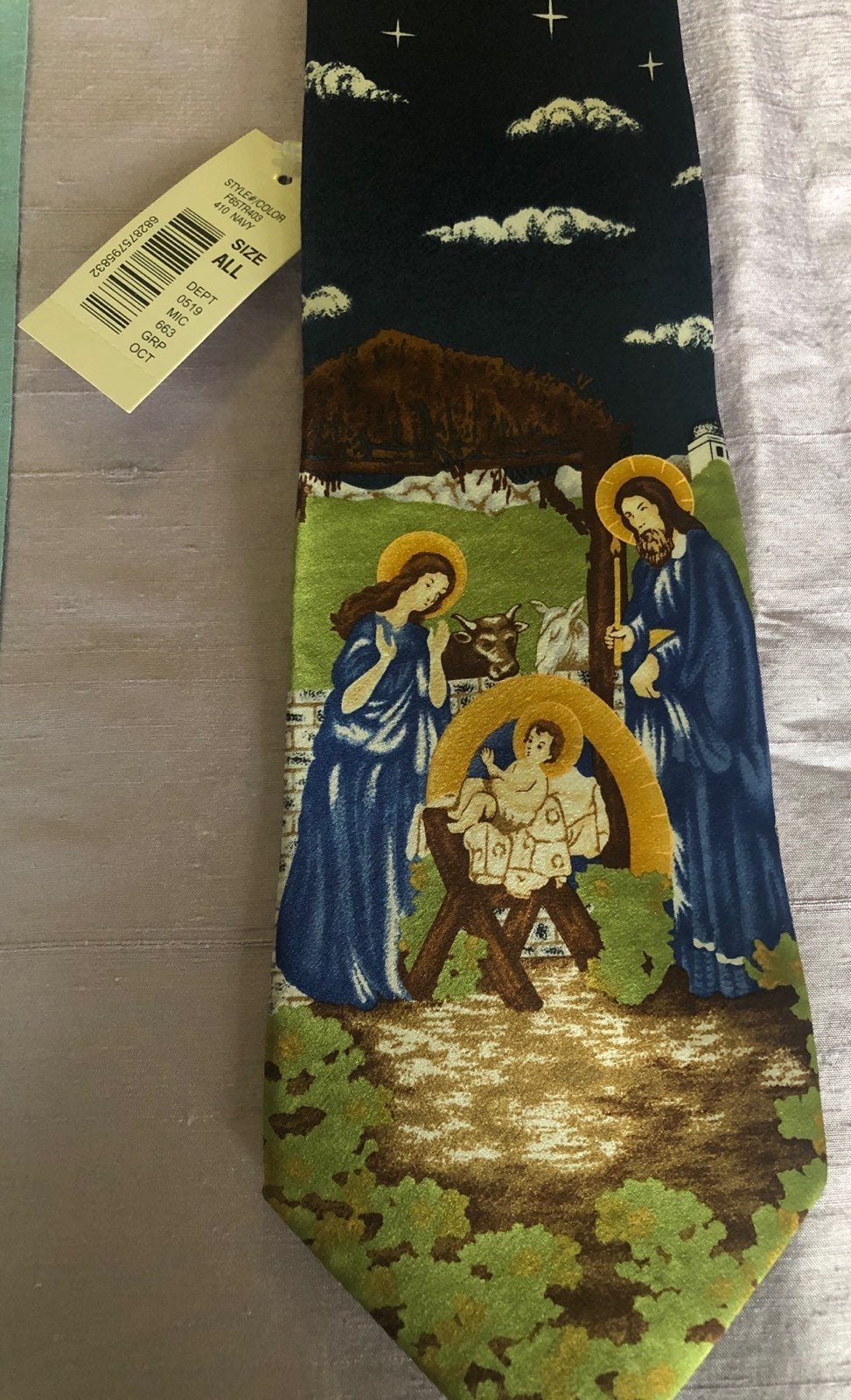 NWT Religious Tie  By Roundtree And York