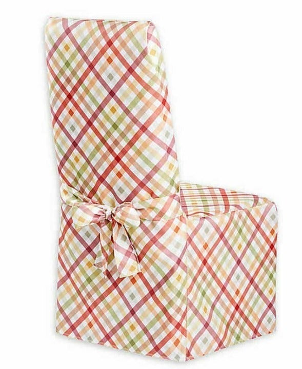 Autumn Gingham Dining Chair Cover