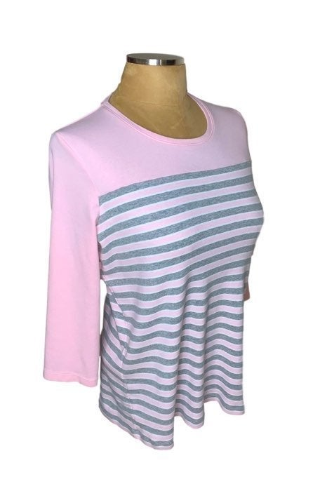 Kim Rogers striped shirt