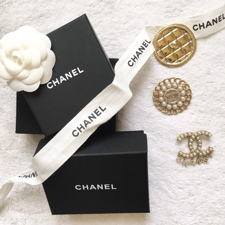 Large authentic quilted chanel brooch