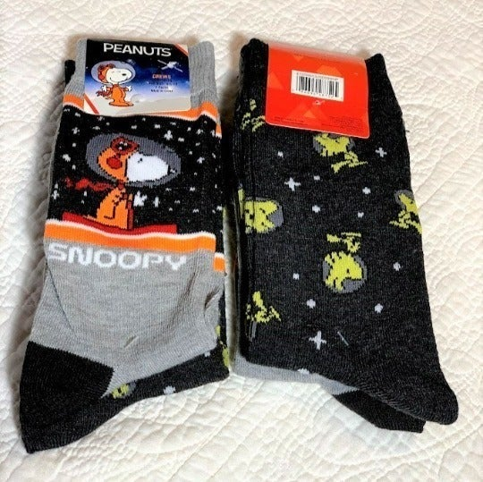 Snoopy & Woodstock Astronaut Crew Socks