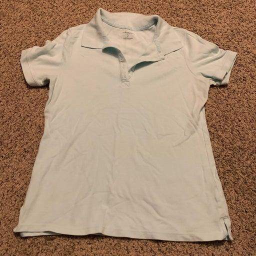 Croft & Borrow light blue polo Shirt sma