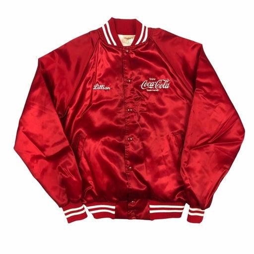 Vintage Coca Cola staff satin jacket