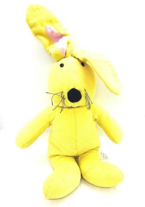 Yellow Bunny Rabbit Plush Stuffed 12""