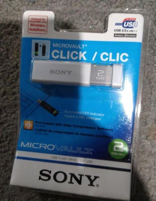 Sony Microvault Click 2 GB USB Flashdriv