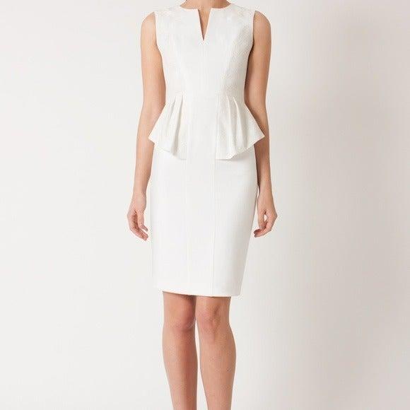 Sleeveless Gabardine Jacquard Dress Lill