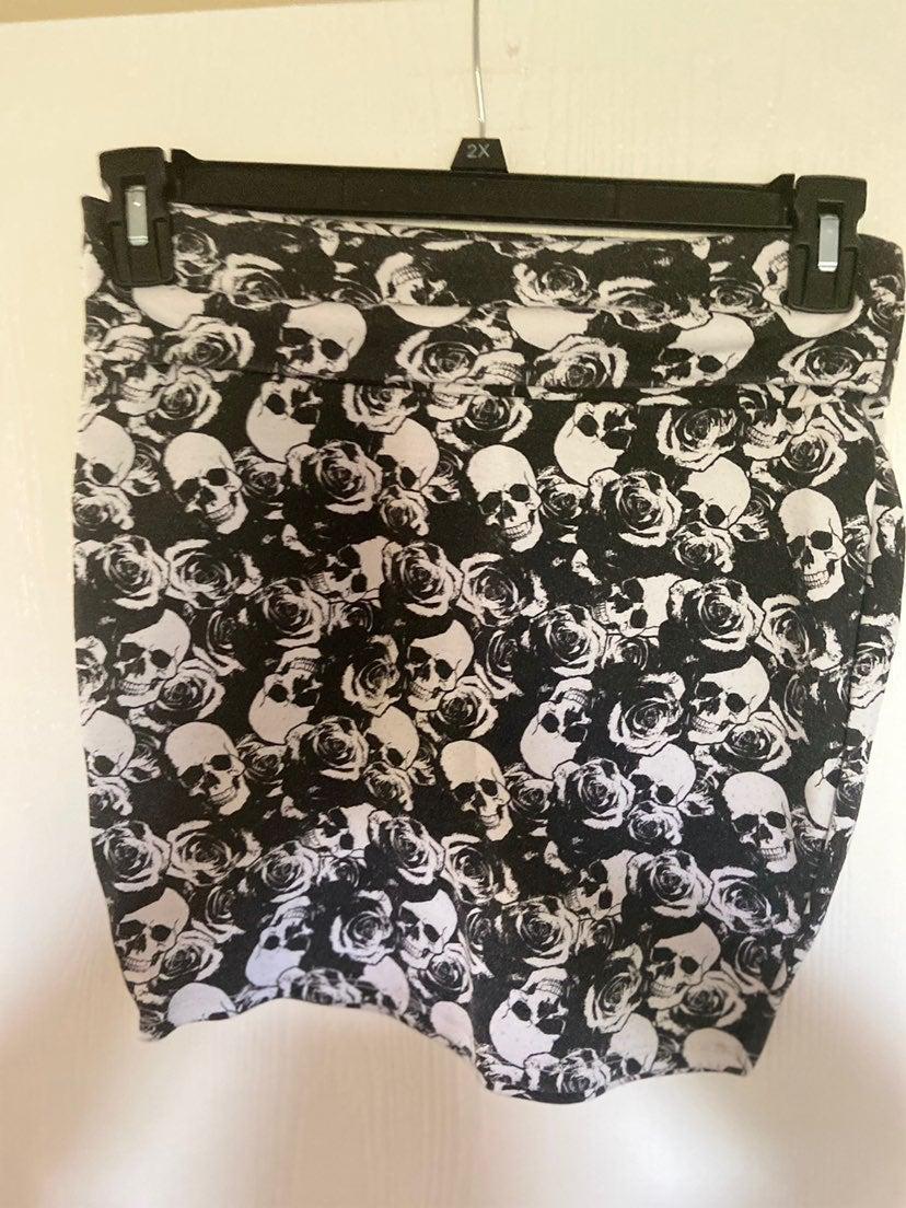 Skeleton Mini Skirt