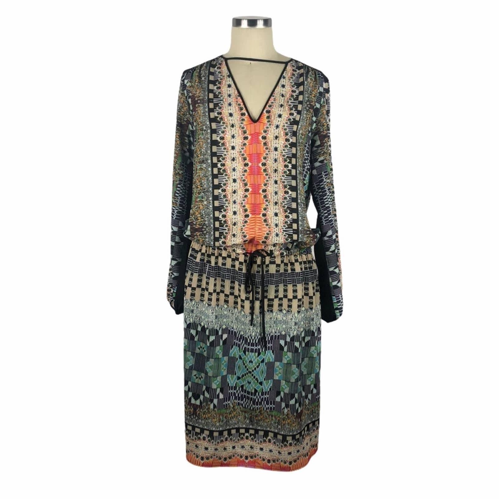 CLOVER CANYON Colorful Drop Waist Dress