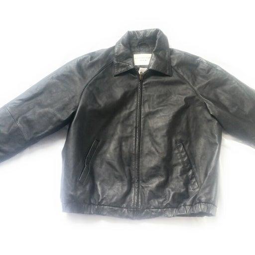 Covington Men's Black Leather Jacket L