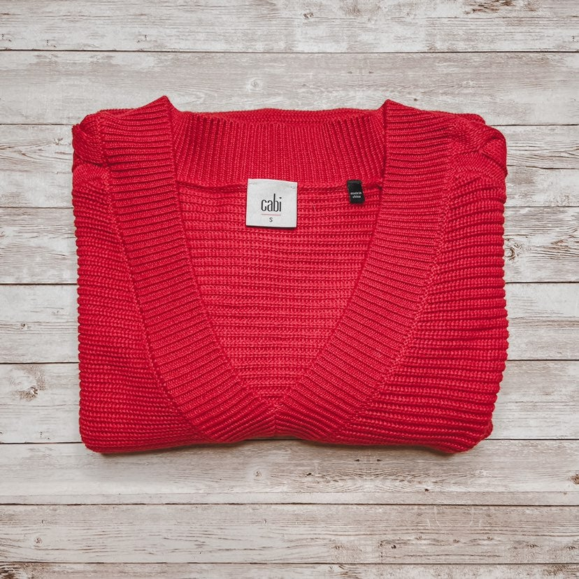 Cabi | Red Vneck Sweater
