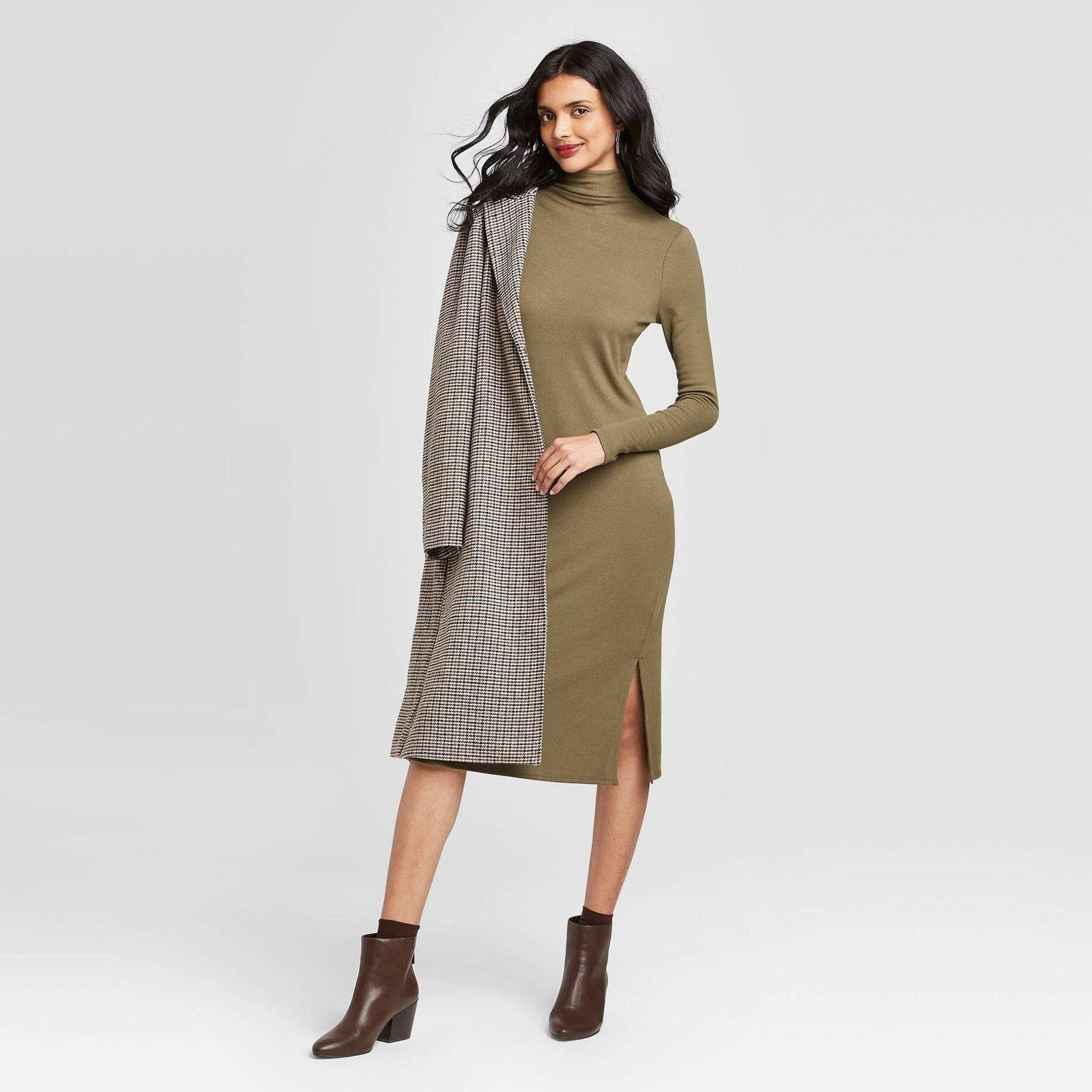 A NEW DAY Ribbed Turtleneck Dress