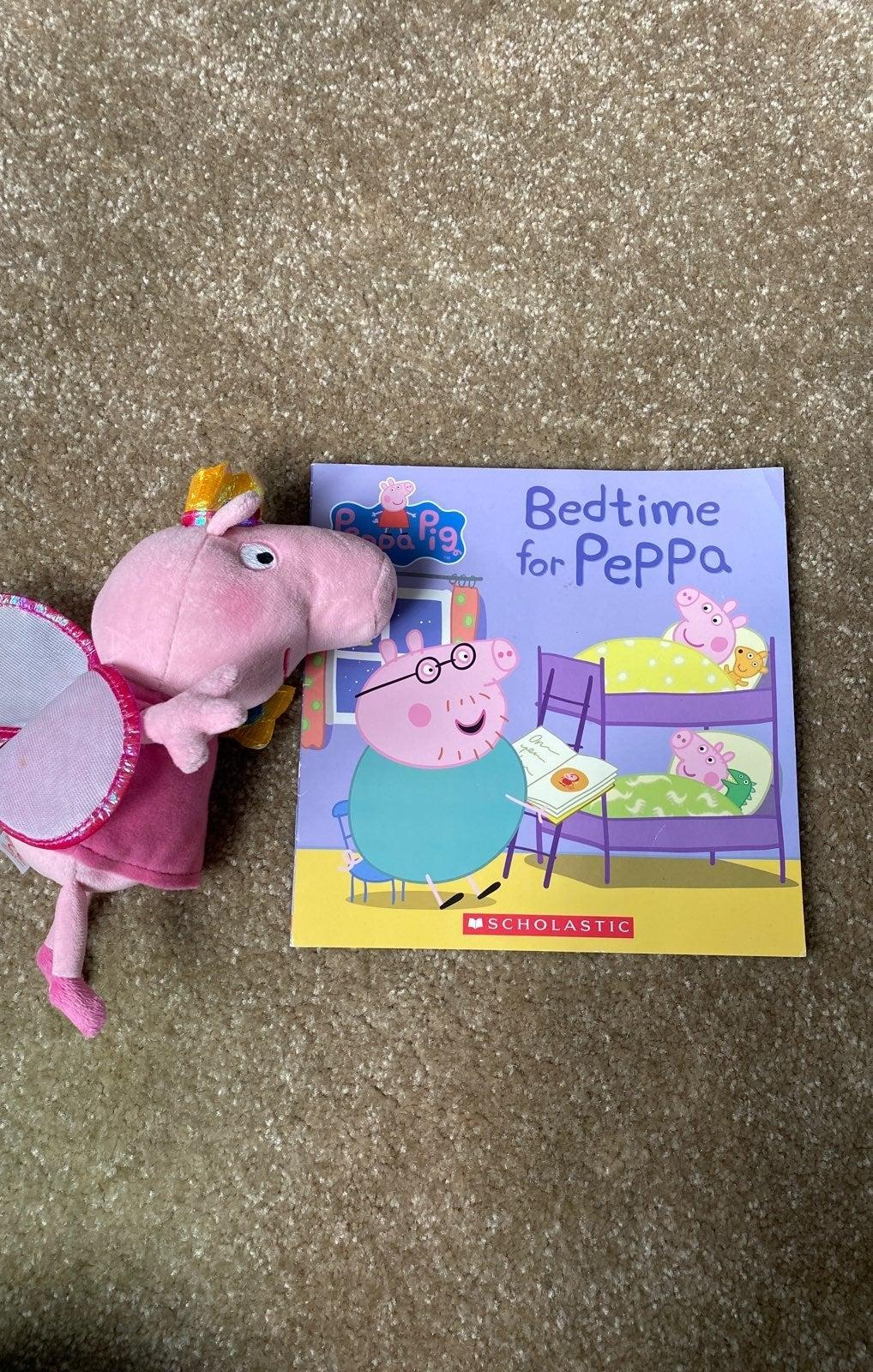 Peppa Pig stuffed animal and book