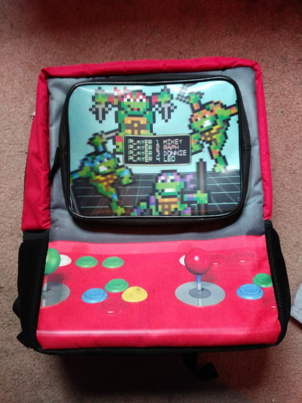 TMNT  mutant ninja turtles backpack holo