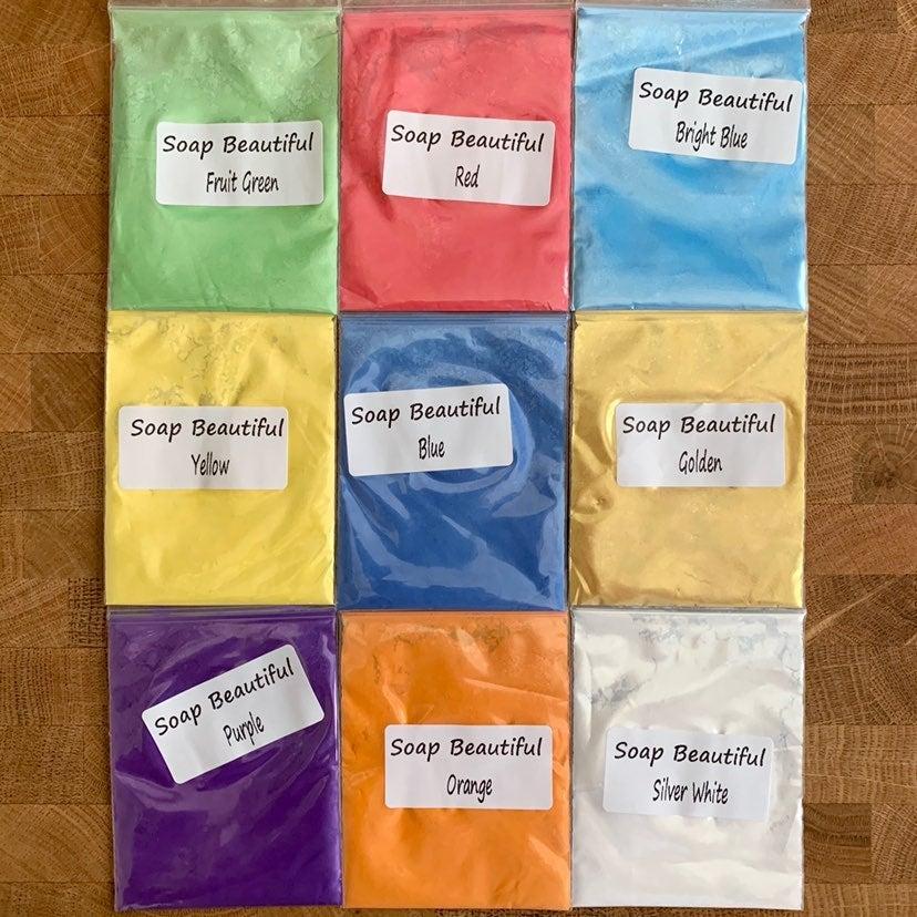 9 Bags Mica Powder Pigments New