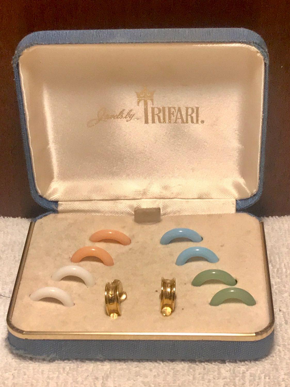 Trifari Interchangeable Earrings