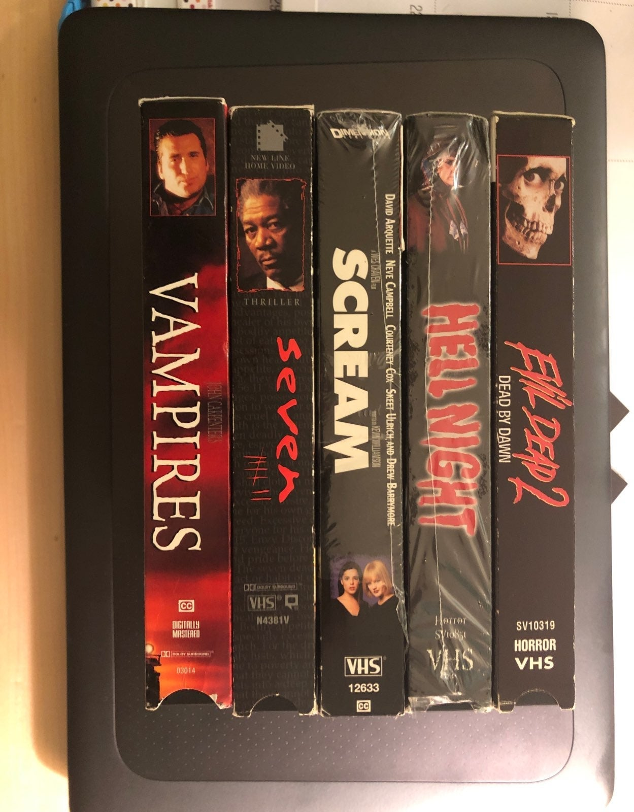 Lot of 5 vhs horror movies