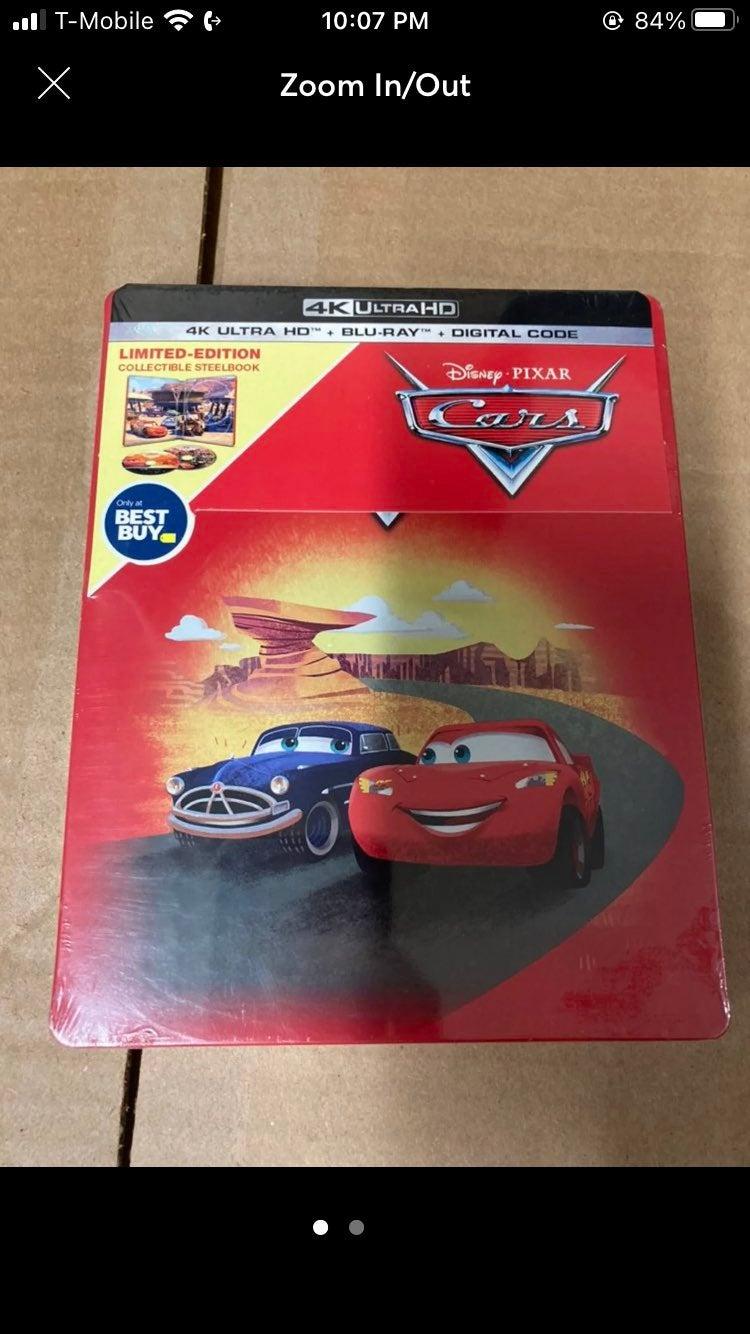 Cars Bluray steelbook 4k Movie