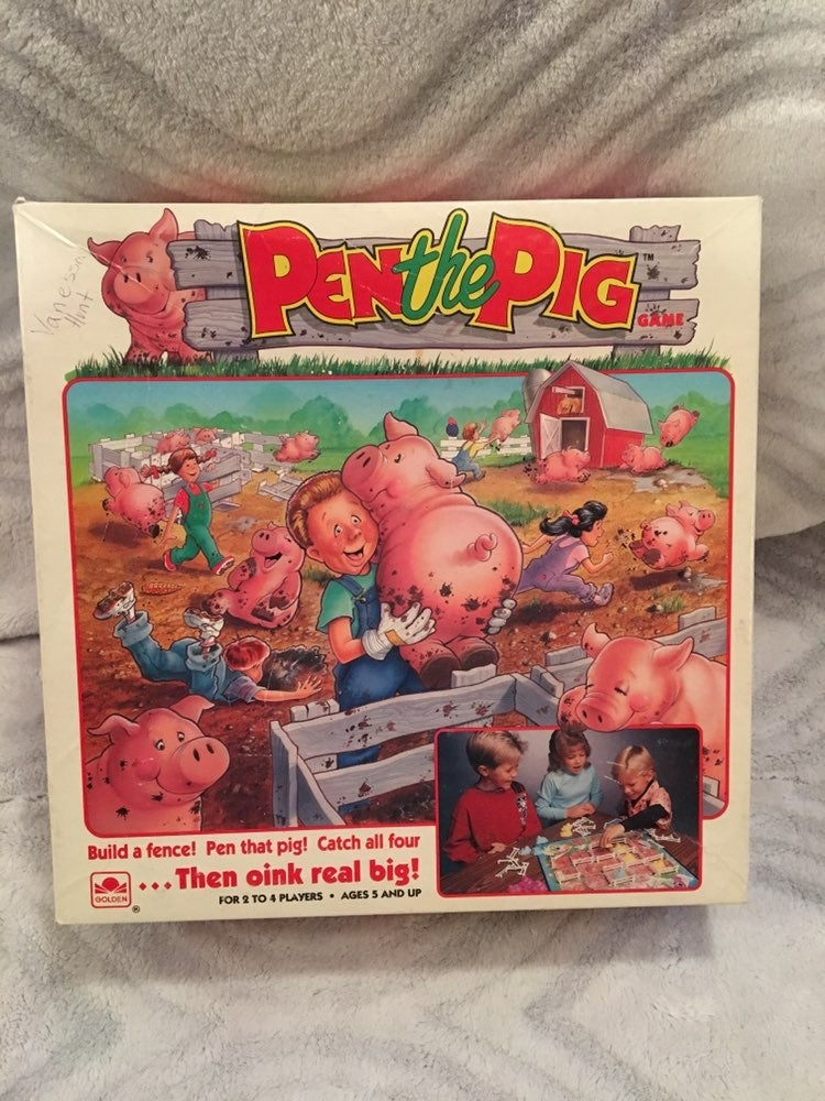 """1990 """"Pen The Pig"""" Game. Complete!"""