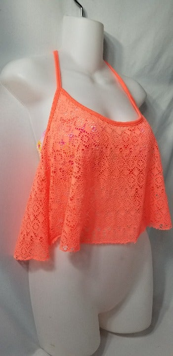 VS Pink Mesh Swim Cover Up Size Medium