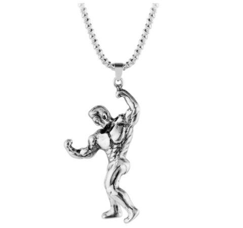 Weightlifting Pendant Fitness Necklace