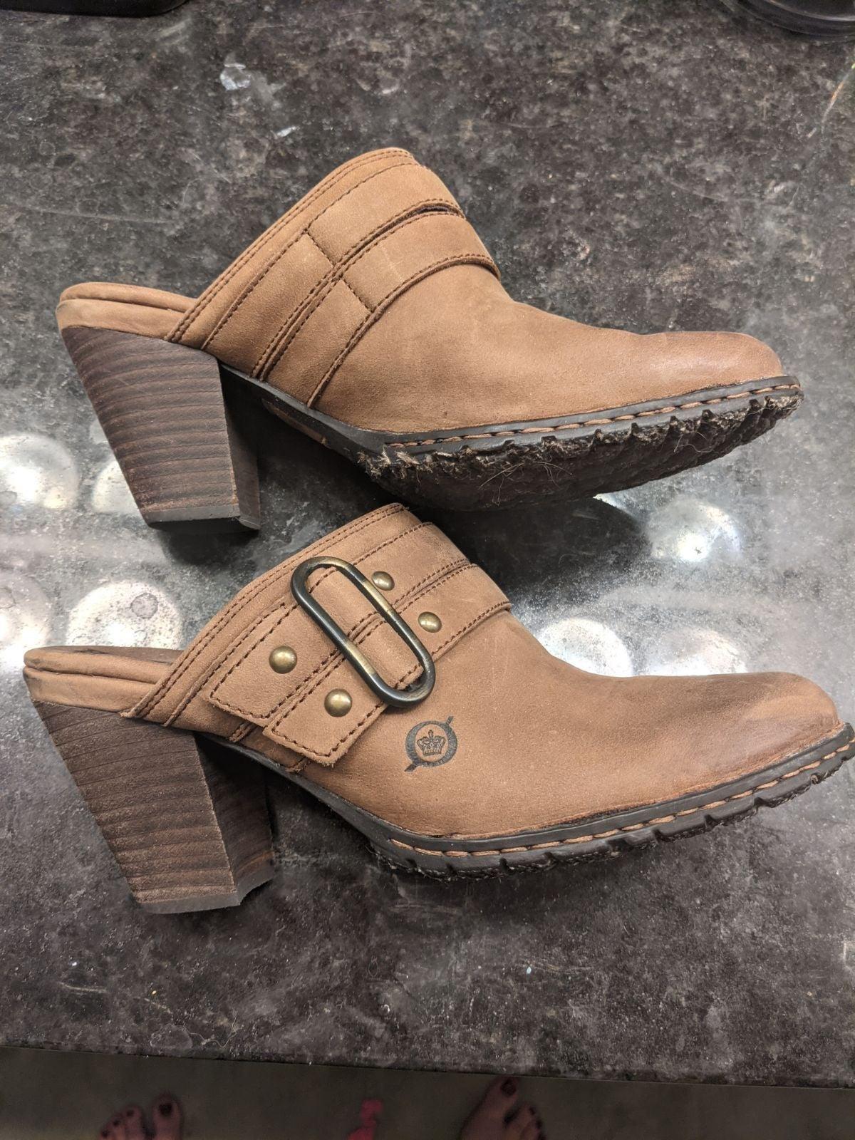 Born Closed Toe Chunky Heels