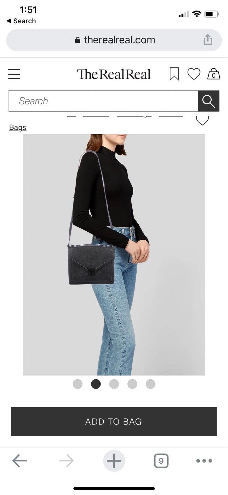 loeffler randal leather bag