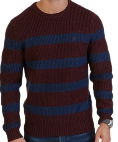 Nautica Men's Breton Striped Sweater 2XL