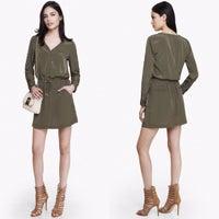 0bf8d04017f6a Express Drawstring Waist Shirt Dress