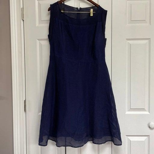 Size 14 Navy Blue Sleeveless Dress