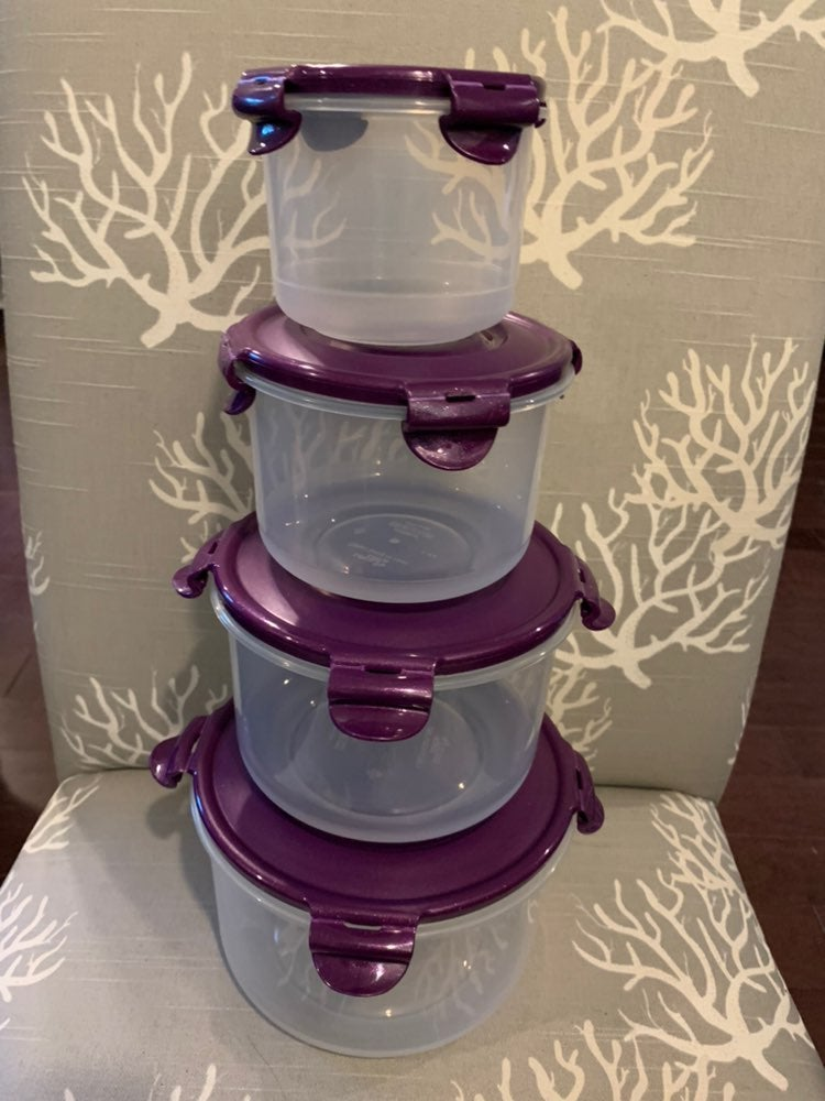 Lock & lock purple nesting food storage