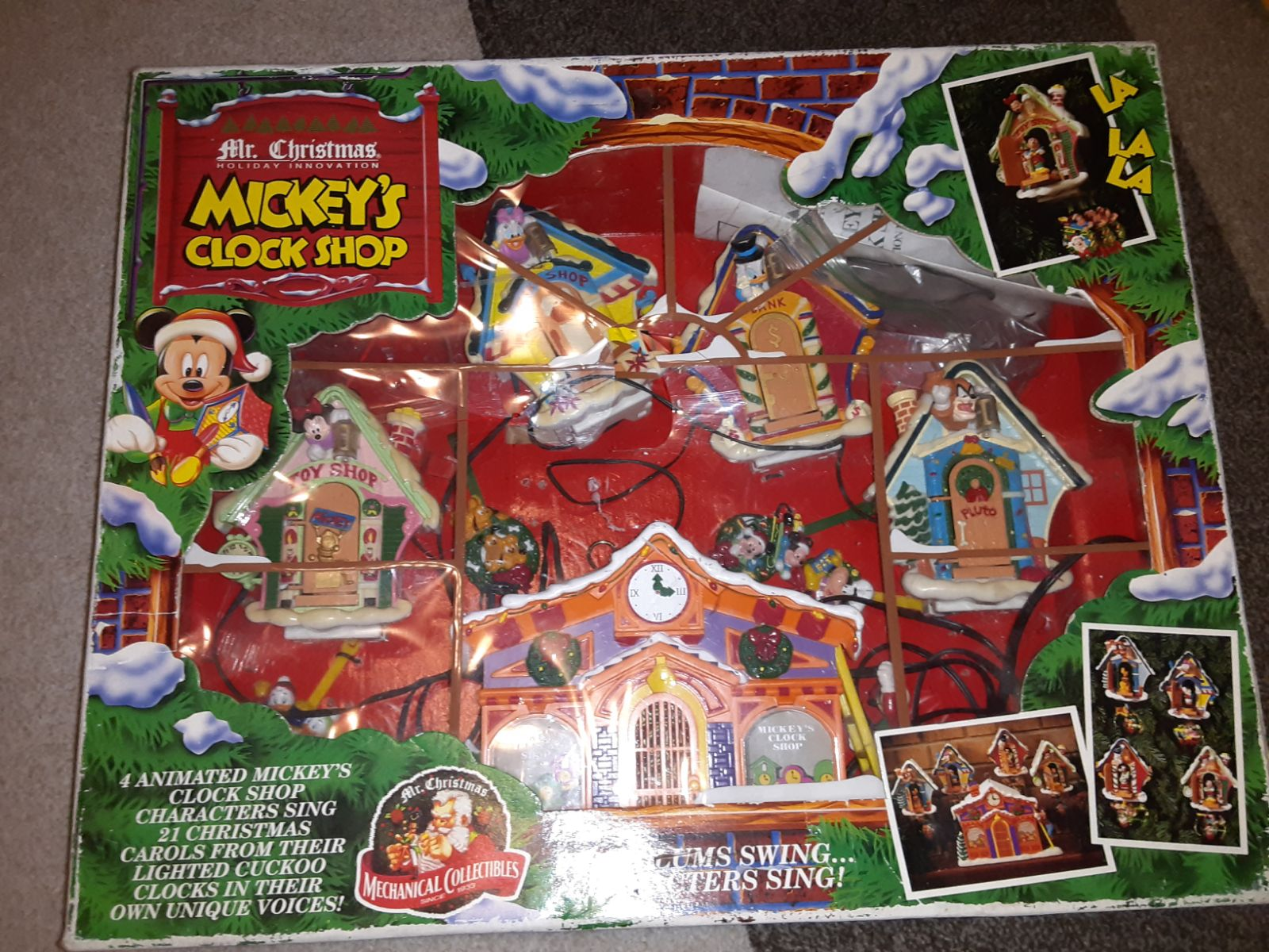1993 Mr Christmas MICKEY MOUSE'S CLOCK S