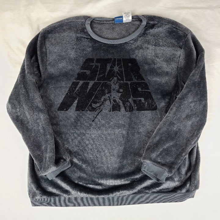 Star Wars Grey Fuzzy Pullover Sweater