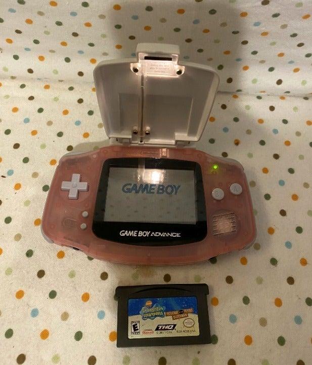 Pink Nintendo GBA Advance Shield Game