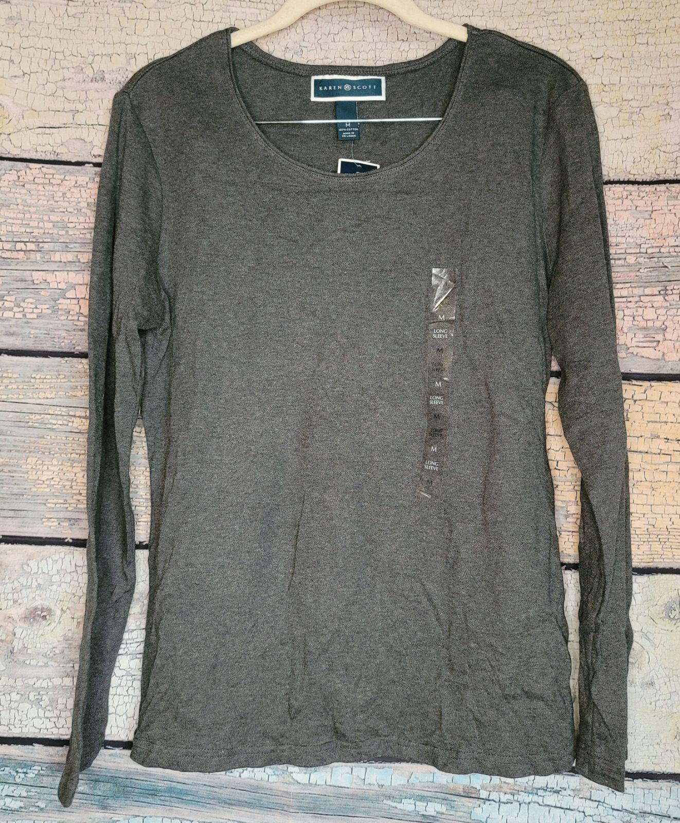 Karen Scott Long Sleeve top
