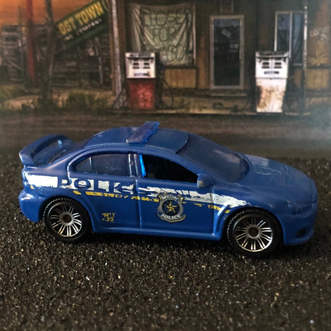 matchbox cars lancer mitsubishi Evo cop