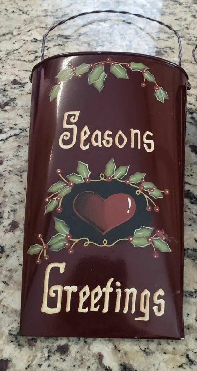 Seasons Greetings Door Bucket