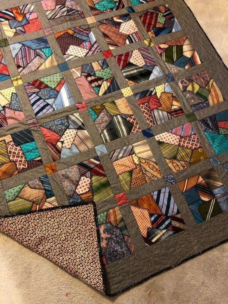 Handmade Vintage Tie quilt