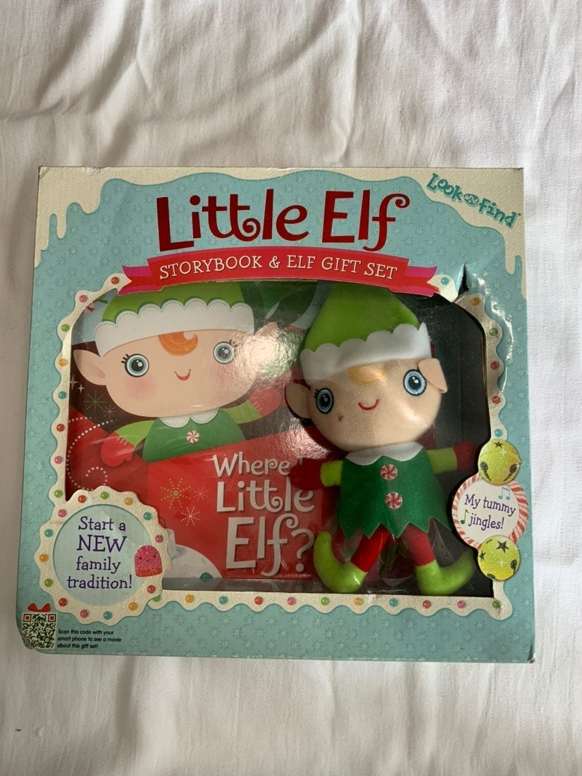 Little Elf Storybook & Elf Gift set NEW