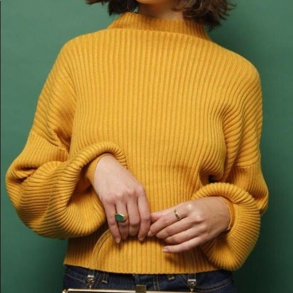 NWT Olivaceous Mustard Yellow Sweater