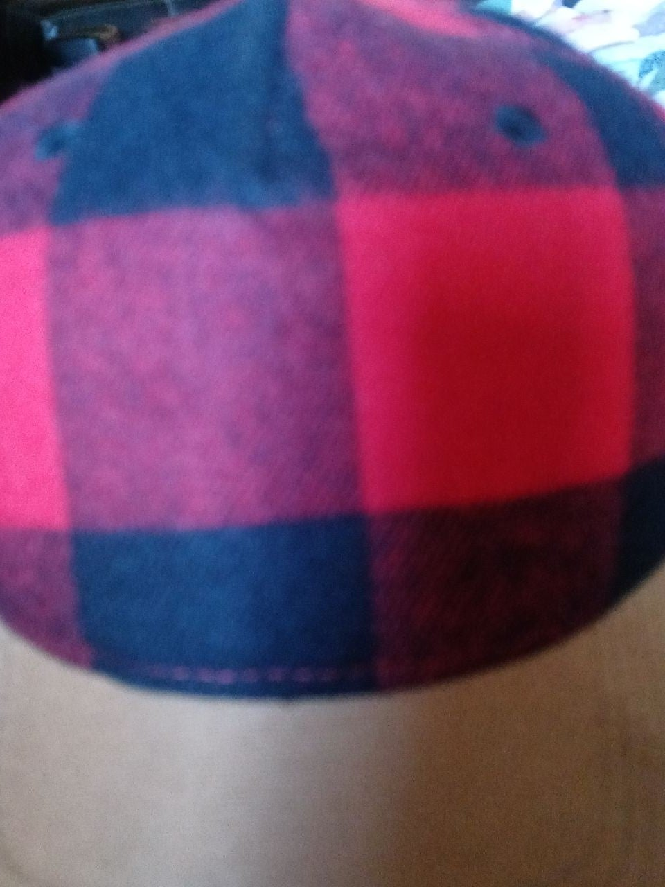 Used only once checkered hat