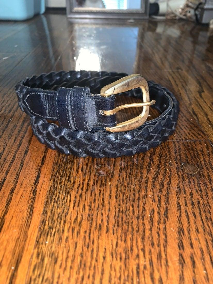 Talbots Black Braided Belt