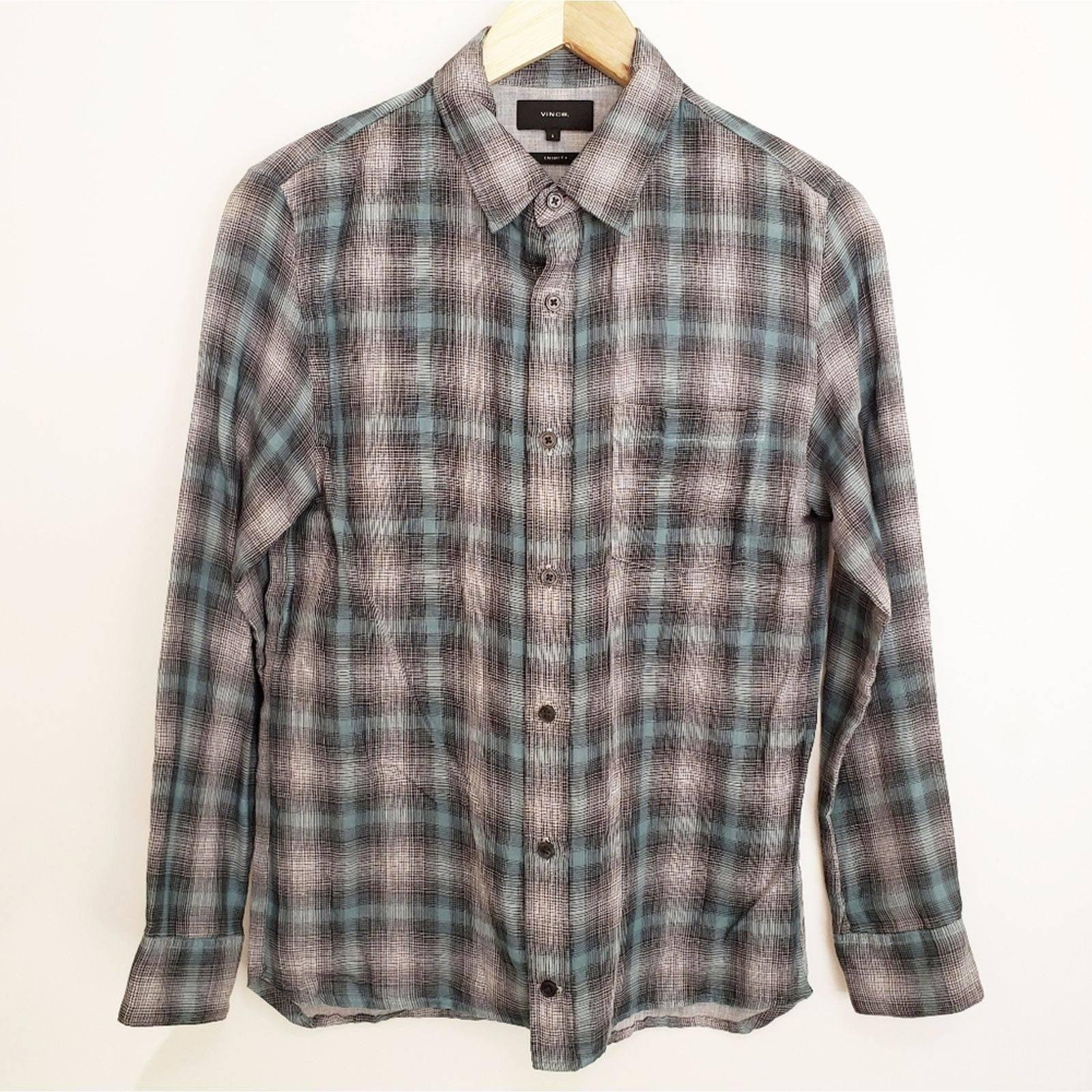VINCE. Men Classic Fit Button-Down Shirt