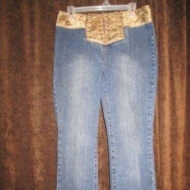 10 Carolina Blues Jeans 34 Gold Lace Up