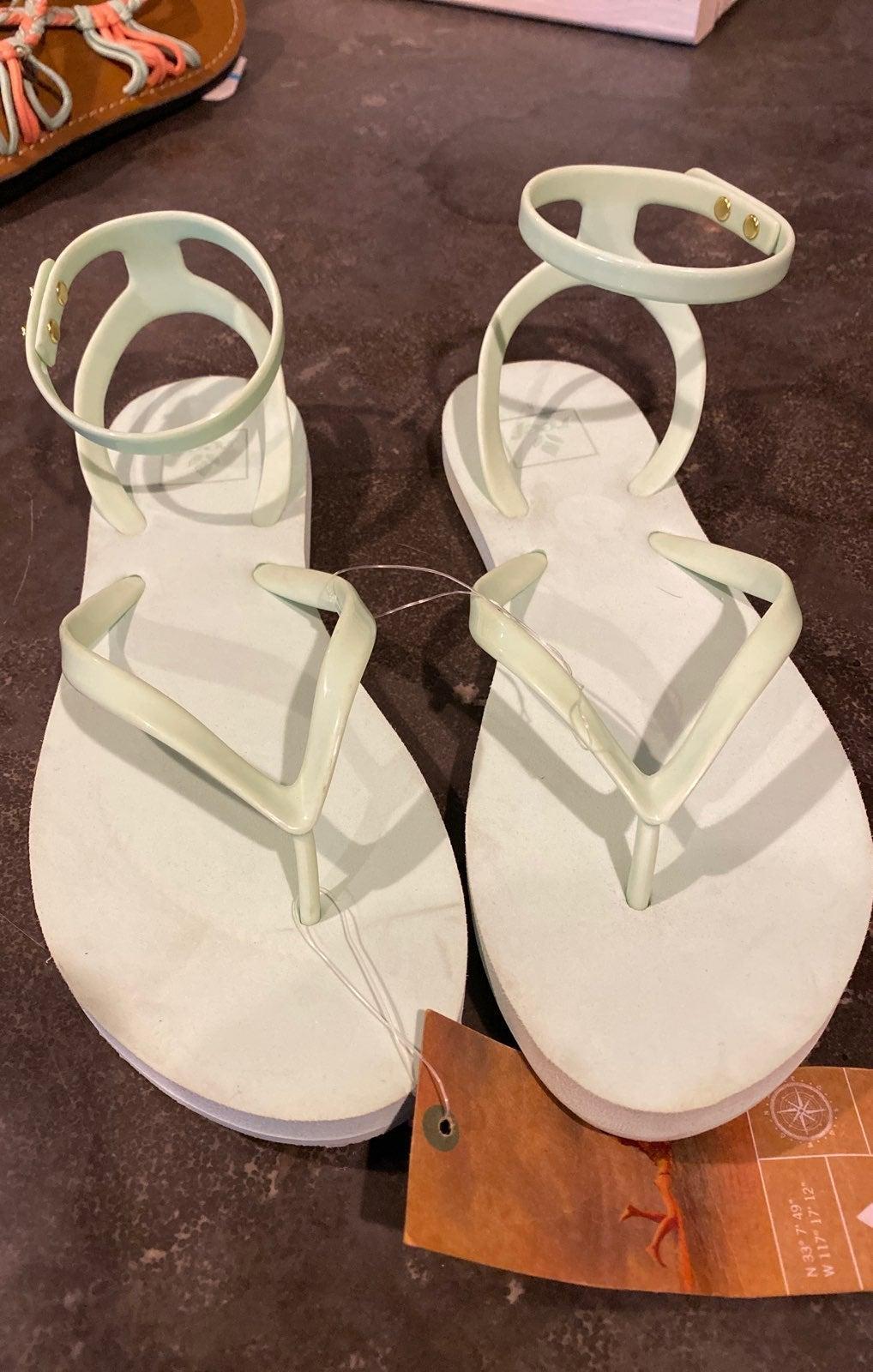 Reef 2YF7 Stargazer wrap sandal 8 Mint