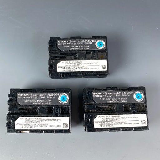 3 Sony camera battery NP-FM500H ORIGINAL