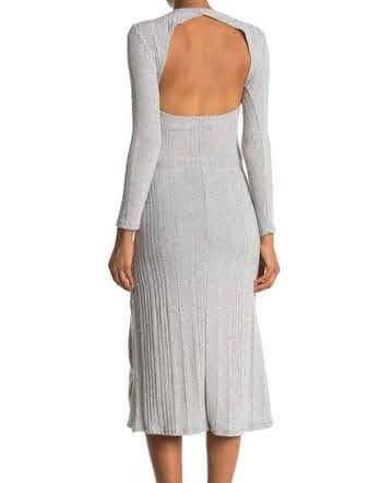 Keyhole back ribbed midi dress XL