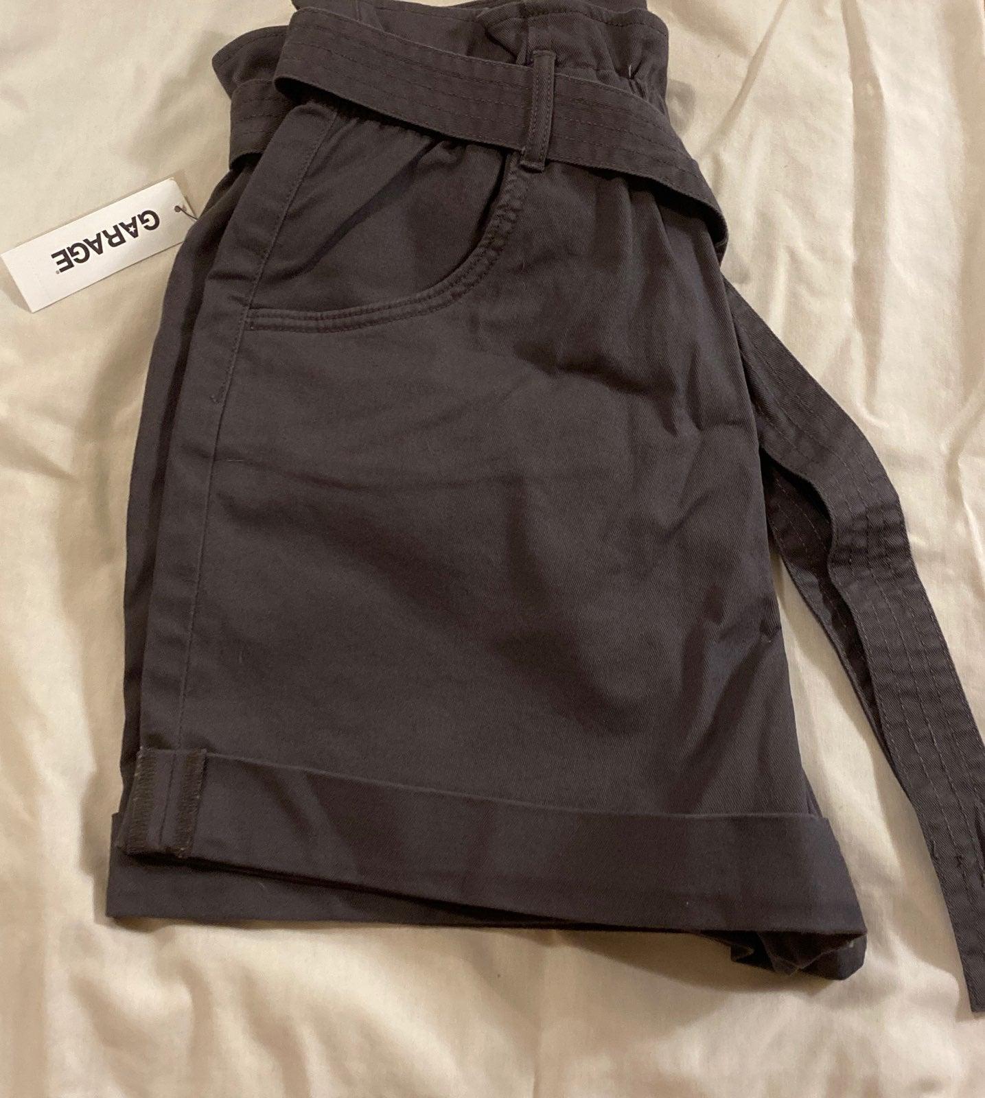 Garage High Waisted Paper Bag Shorts