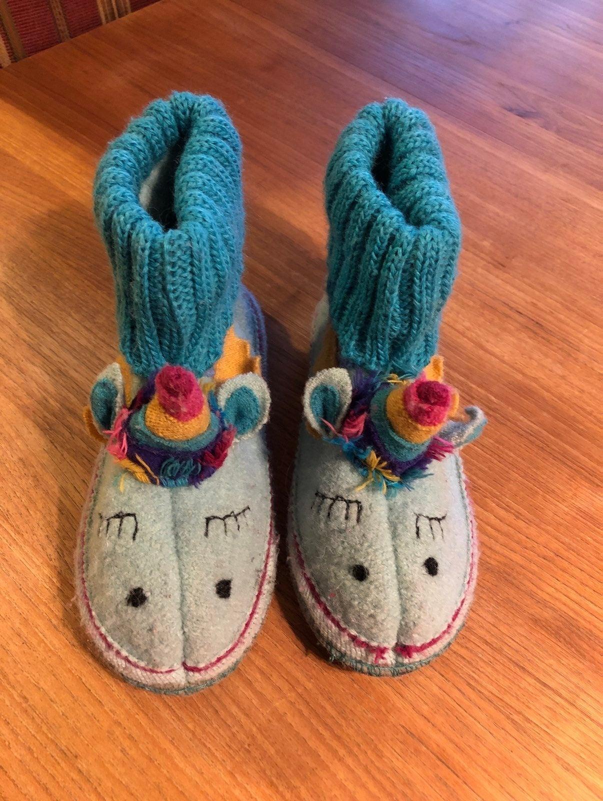 garnet hill wool unicorn slippers